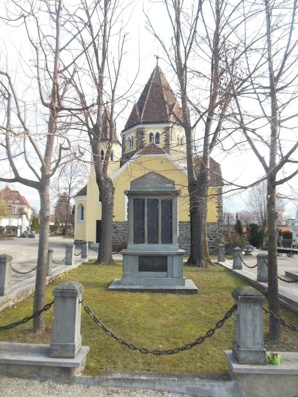 Graves of honour at Krems cemetery, Lower Austria, Austria