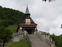 Memorial Church of Holly Spirit on Javorca, Slovenia