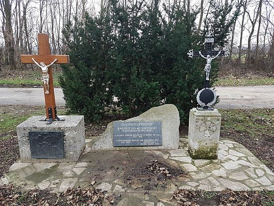 Memorial site of the former refugee camp Bruck an der Leitha, Lower Austria, Austria