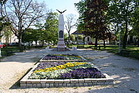 Monument of WWI on Vörösmarty Square, Veszprém, Hungary