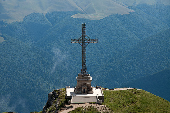 The Nation's Heroes Cross (Cross on the Mount Caraiman) in Busteni, Romania