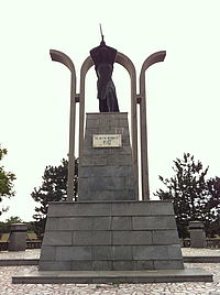 Statue of Victory in Tisita, Vrancea County, Romania