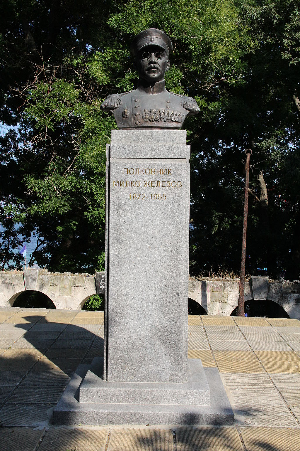 Monument of Colonel Milko Zhelezov in Varna, Bulgaria