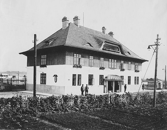 Commando building and main building of the POW camps in Valley Erlauftal: camp Wieselburg, camp Purgstall and station for captive officers Mühling in Lower Austria, Austria