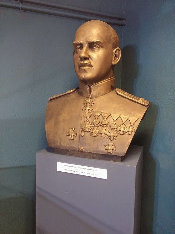 A Monument of Colonel Petar Dimkov in Varna City, Bulgaria