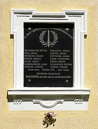 World War I Memorial Tablet - Nagyárpád