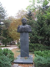 The monument to General Stefan Toshev, General Toshevo, Bulgaria