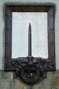 World War I & II Memorial Tablet - Pécs-Vasas