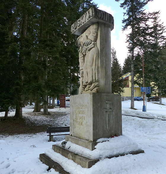 The memorial of russian army in Bardejov spa