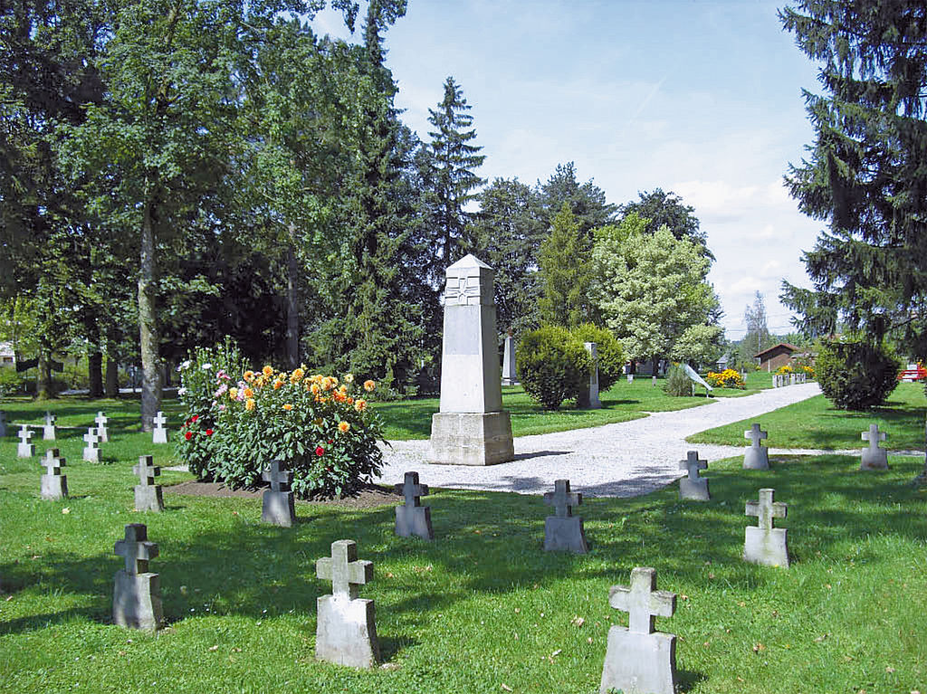 Camp cemetery of the former POW camp Braunau am Inn (district Haselbach), Upper Austria, Austria