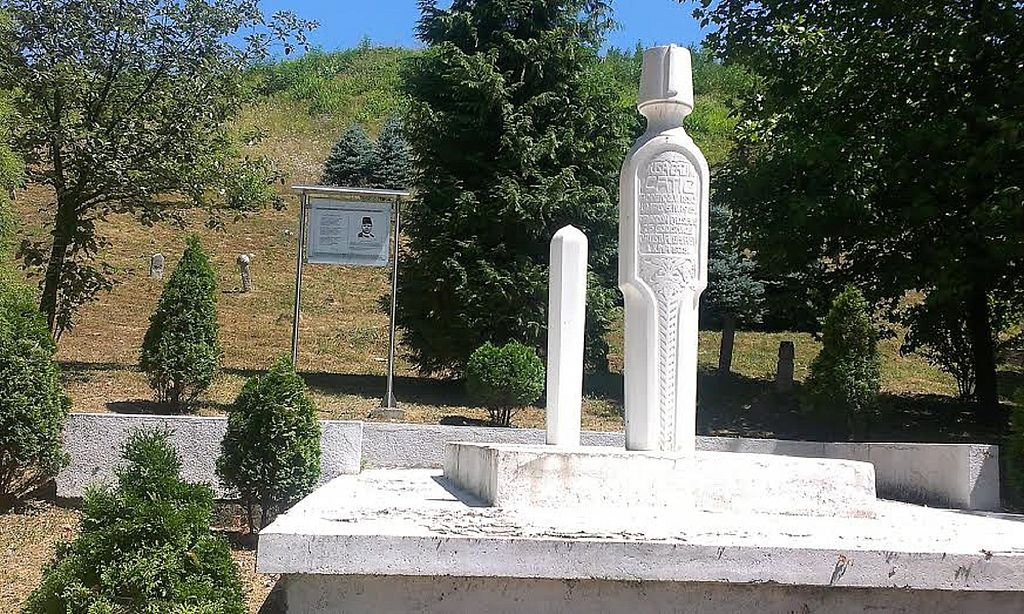 The grave of the writer Musa Ćazim Ćatić, Tešanj, Bosnia and Herzegovina