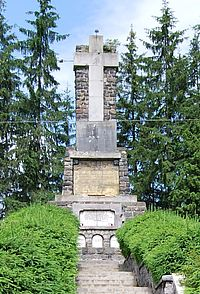 Mausoleum of the WWI Heroes in Toplita, Harghita county, Romania