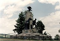 Monument of the Cavalry Heroes of the World War One in Oituz, Bacau County, Romania