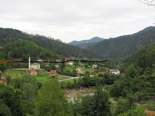 Wooden bridge on Vojnica, Olovo, Bosnia and Herzegovina