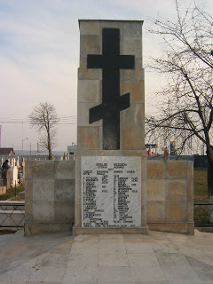 Monument of Romanian and Russian Heroes in Adjud, Vrancea County, Romania