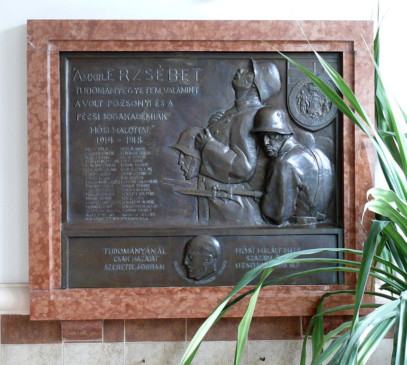 World War I Memorial Tablet - University of Pécs