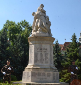 WWI monuments and memorial park in Szentes, Hungary