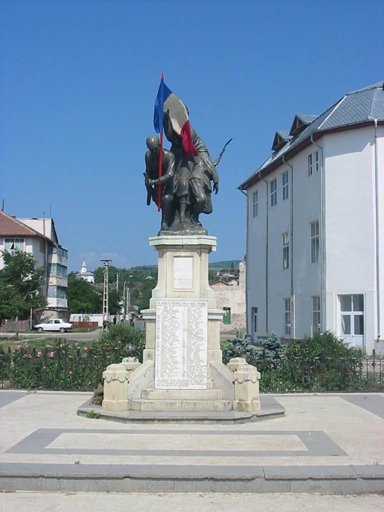 Heroes Monument (1916-1918) in Odobesti, Vrancea County, Romania