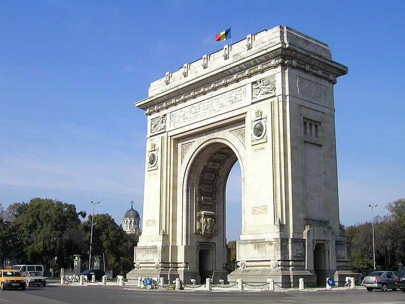 Arcul de Triumf (Arch of Triumph) in Bucharest, Romania