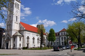 Saint Elias Church with its Parish Office in Zenica, Bosnia and Herzegovina